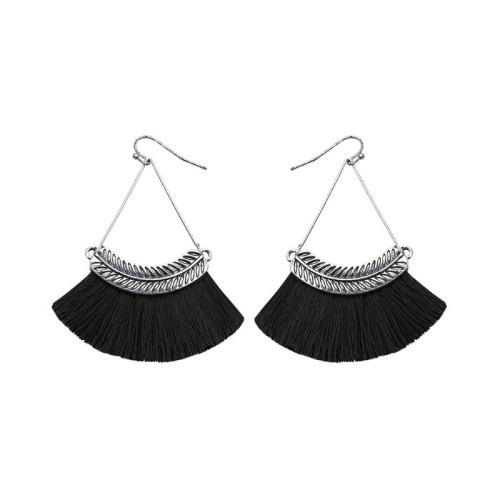 Fan-shaped tassel earrings ME68481-3