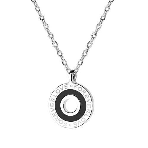silver round necklace 	MLA1405b