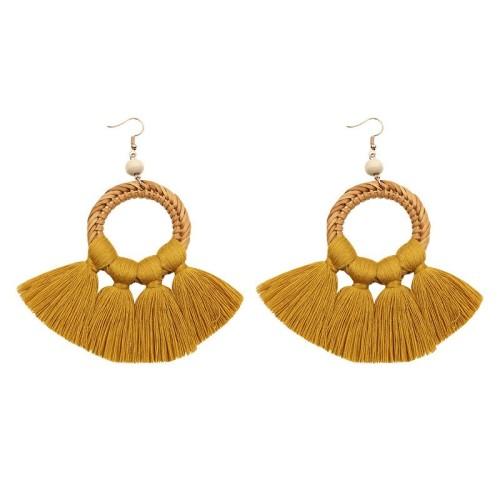 Round tassel earrings ME68456