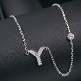 silver necklace MLA622Y