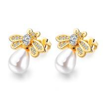 Bee pearl earrings gb0619024-1