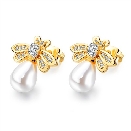 Bee pearl earrings gb0619024-1