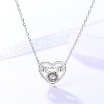 silver necklace MLA732-2