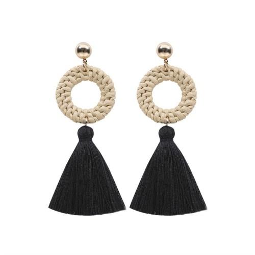 Round tassel earrings ME68435-5