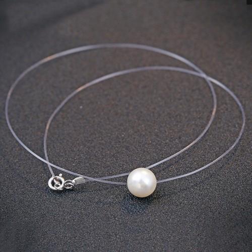 silver necklace MLA673b(8mm)