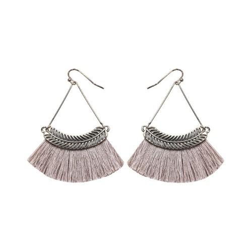Fan-shaped tassel earrings ME68481-2