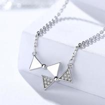 Silver Bow Necklace MLA1054