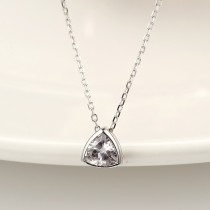 silver Triangle necklace MLA877