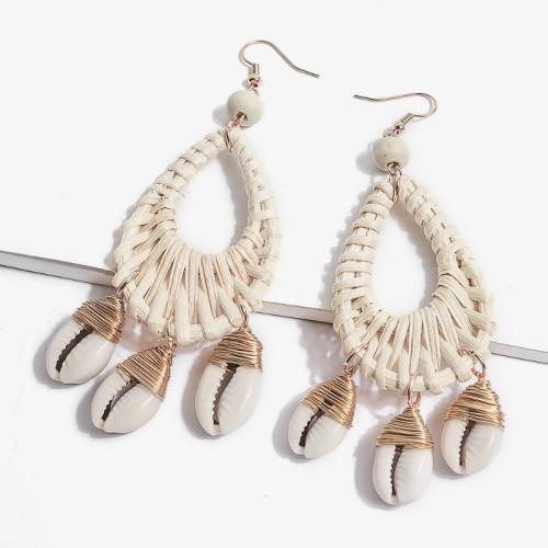 Rattan shell earrings ME68550