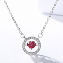 Silver Heart-shaped necklace MLA1012