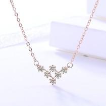 silver necklace MLA306-2