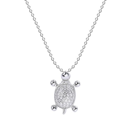 Silver Turtle Necklace MLA526b