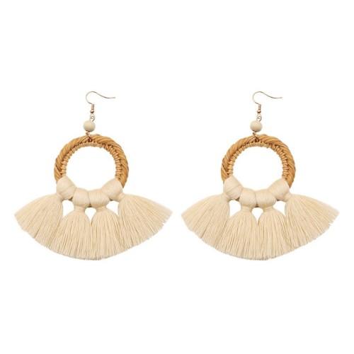 Round tassel earrings ME68456-2
