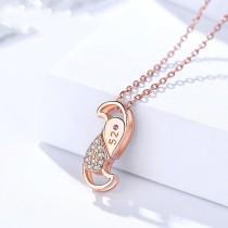 silver heart necklace MLA1391