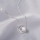 pearl silver necklace MYA808