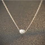 silver necklace MLA744