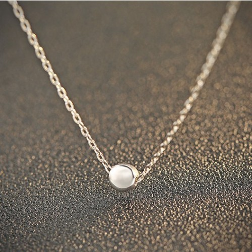 silver necklace MLA744