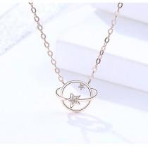 Silver planet necklace MLA410-2