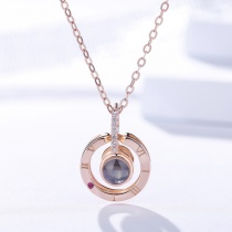silver valentine necklace MLA1076