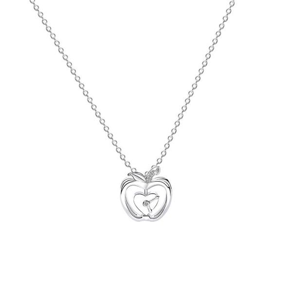 Silver Apple Love Necklace MLA506a