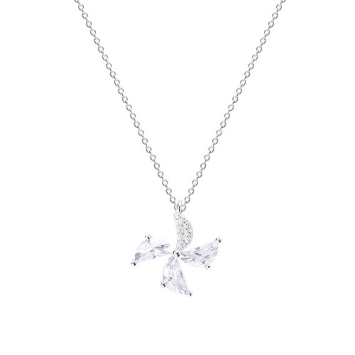 Silver windmill necklace MLA635-1
