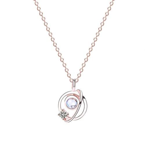silver necklace MLA597-1