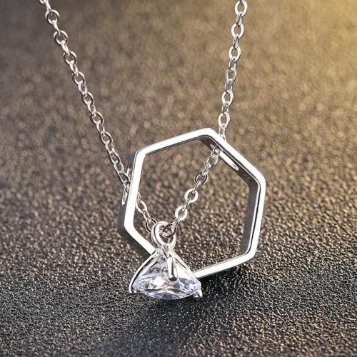 silver necklace MLA702