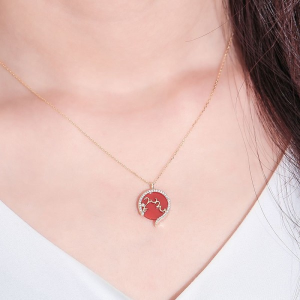 silver necklace MLYA0055