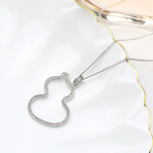 Sterling Silver gourd Sweater Necklace MLA906