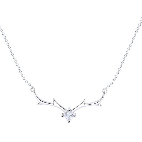 Silver deer necklace MLA529b