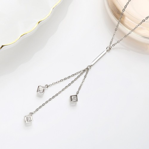 Sterling Silver Sweater Necklace MLA909
