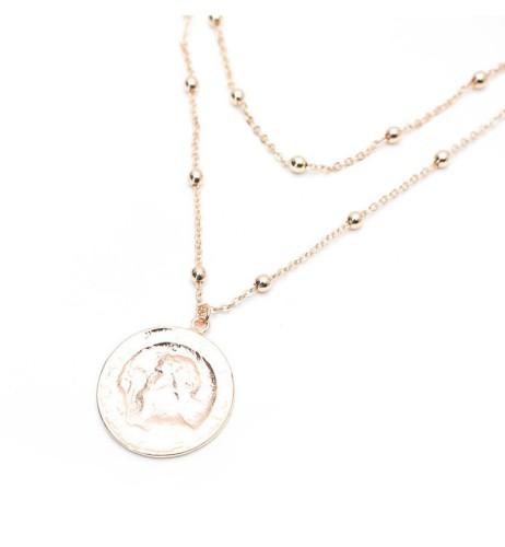 Round head coin necklace MN70000