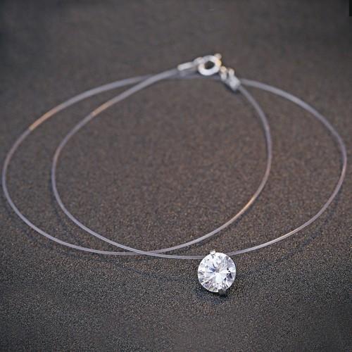 silver necklace MLA673(8mm)