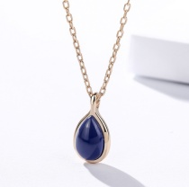 Silver Oval Necklace 1020