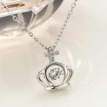 silver Crown necklace MLA835