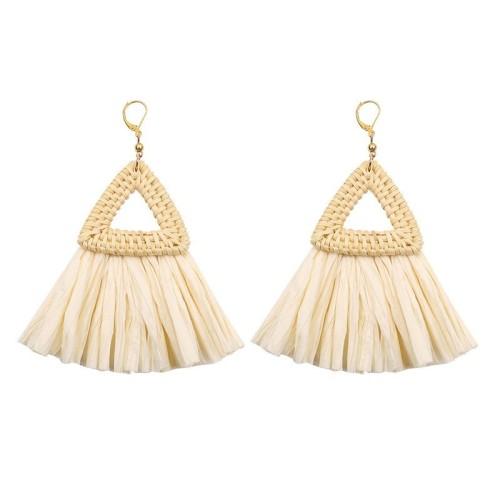 Triangle tassel earrings ME68447