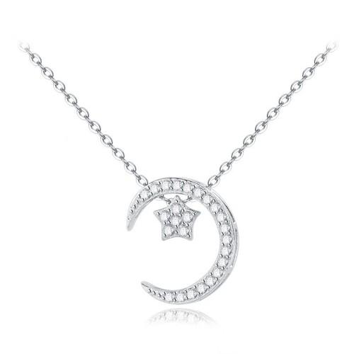 silver necklace MLA598a