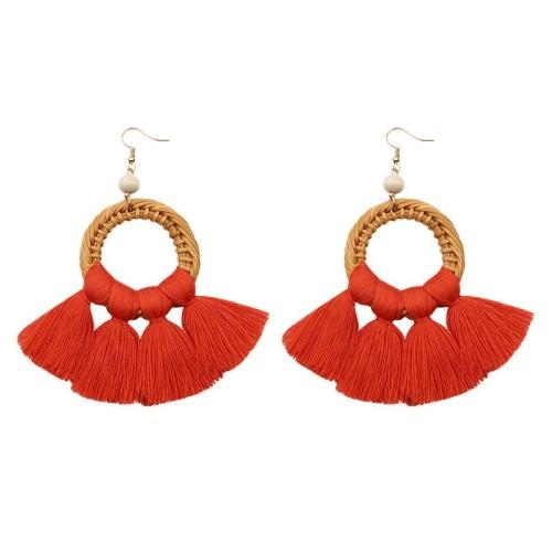 Round tassel earrings ME68456-3