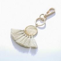 Fan-shaped tassel keychain MK68022