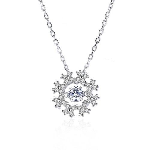 Silver Snowflake necklace MLA1101