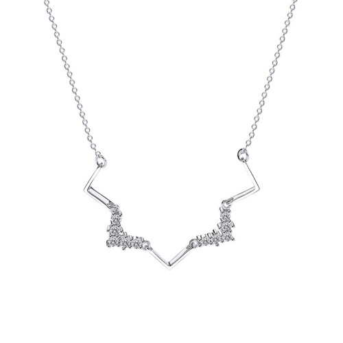 Silver wavy necklace MLA658