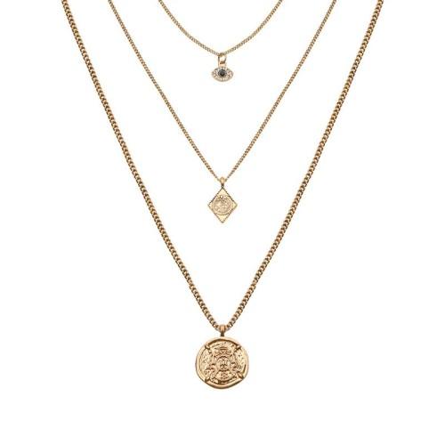 Three-layer vintage necklace MN70115