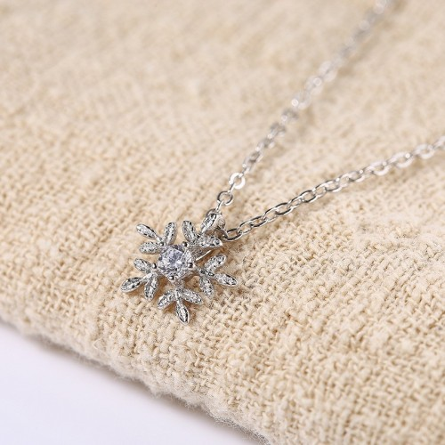 snowflake Zircon Necklace MLA817