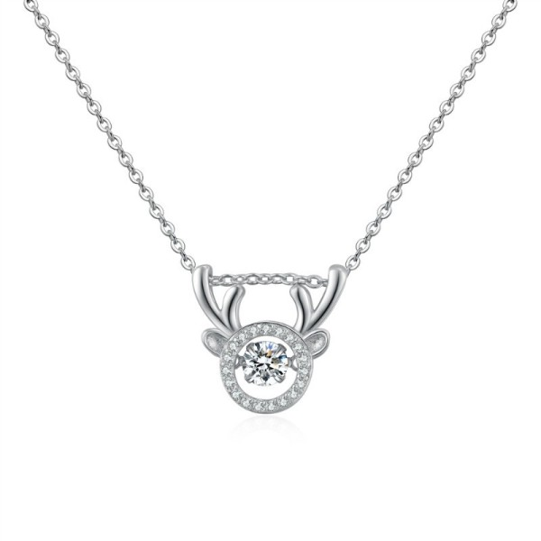 Silver Antler Necklace 28703
