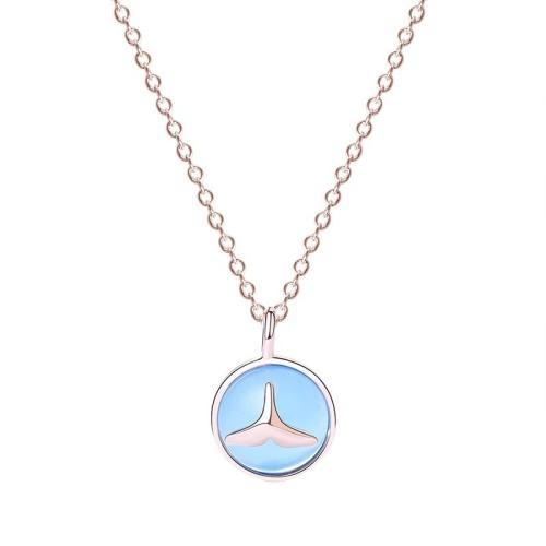 silver necklace MLA591