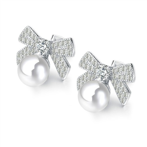 Bow Pearl Earrings gb0619025