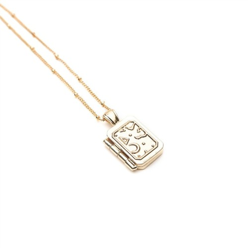 Square book necklace MN70010