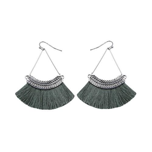 Fan-shaped tassel earrings ME68481-1