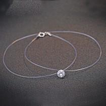 silver necklace MLA673a(6mm)