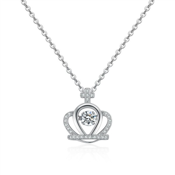 Silver Crown Necklace 28706